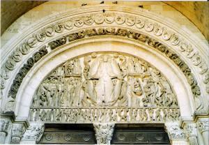 Tympanon, katedra w Autun.